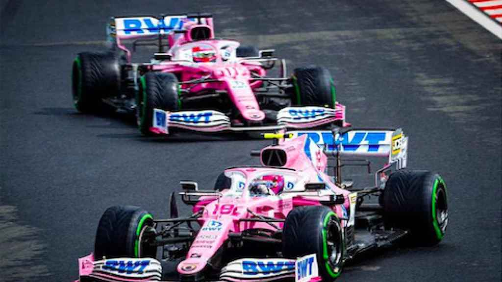 Los Racing Point durante el GP de Hungría