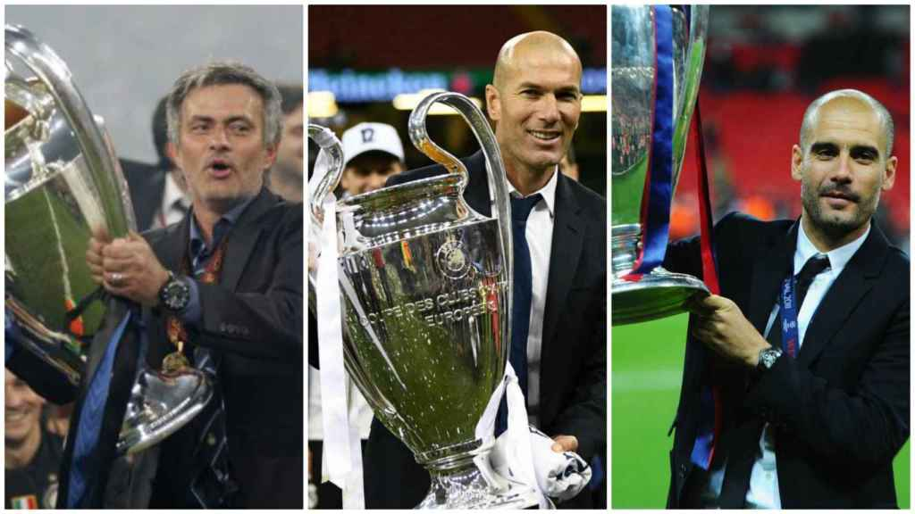 Mourinho, Zidane y Guardiola