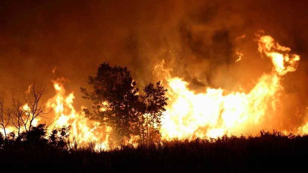 Un incendio en Cualedro (Orense) el pasado verano.