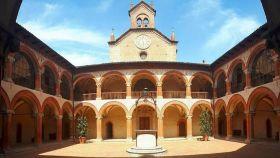 Interior del Real Colegio de España en Bolonia.