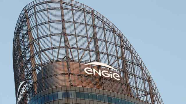 FILE PHOTO: A logo of French energy company Engie is seen at an office building in La Defense business district in Courbevoie near Paris