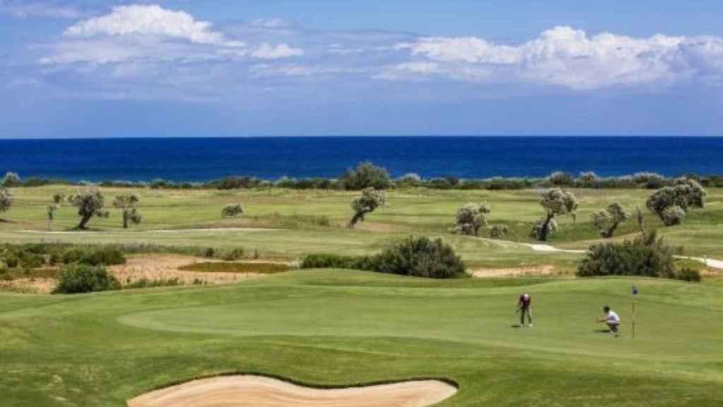 Los campos de golf alrededor del hotel.