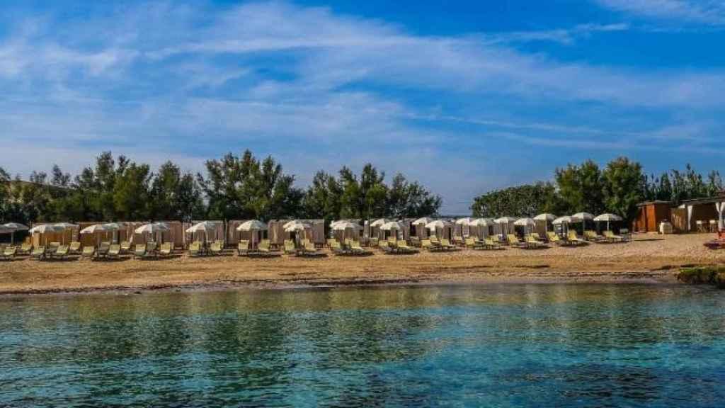 La Fonte, una de las playas privadas del hotel.