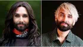 El antes y el después de Conchita Wurst en montaje de JALEOS.