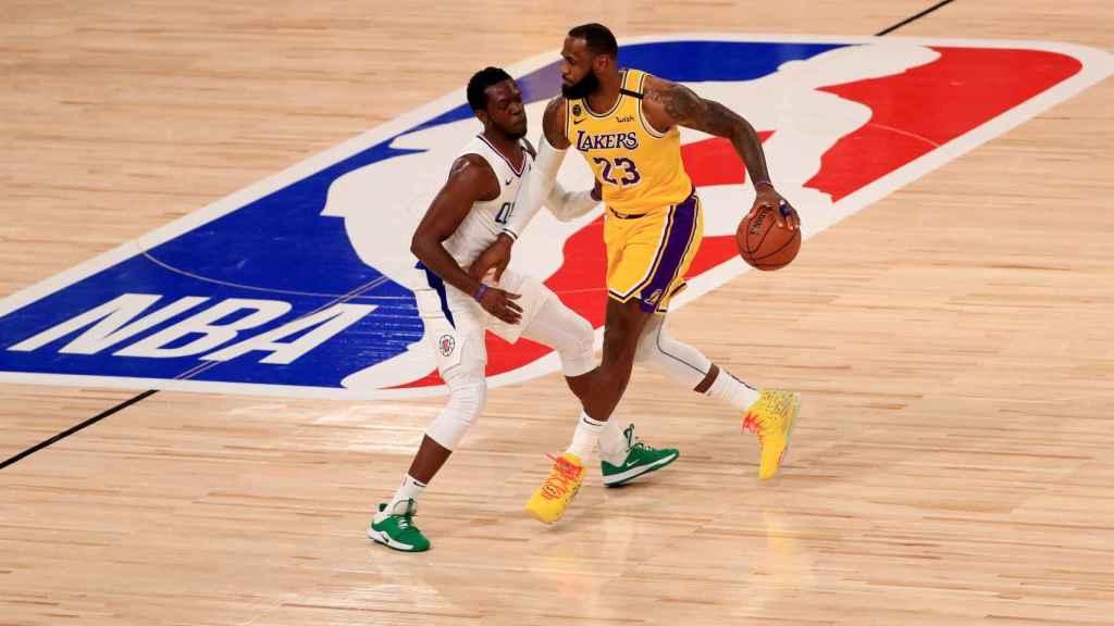 LeBron James, en el primer partido de Lakers en la burbuja de la NBA