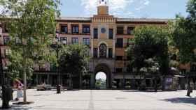 La Plaza de Zocodover de Toledo el día del Corpus 2020, prácticamente vacía
