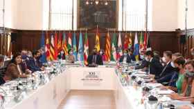 Pedro Sánchez, presidente del Gobierno, durante la conferencia de presidentes.
