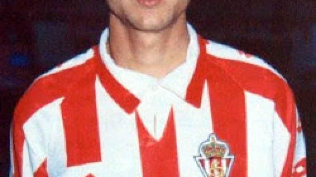 Juanele, el Pichón de Roces, en su etapa en el Sporting