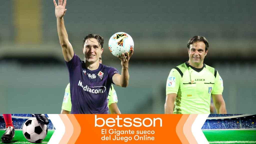 Chiesa, jugador de la Fiorentina