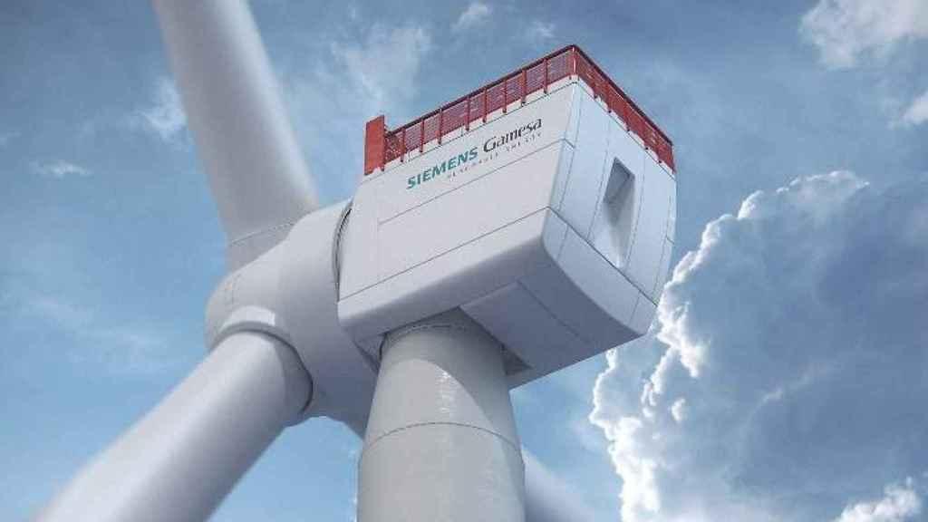 Un aerogenerador de Siemens Gamesa en una imagen de archivo.