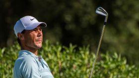 Rafa Nadal, jugando el torneo del Campeonato Absoluto de Golf de Baleares