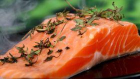 Un lomo de salmón.