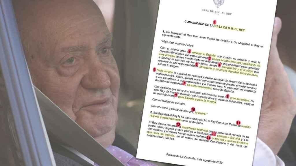Juan Carlos anunció su marcha en un comunicado de Casa Real.