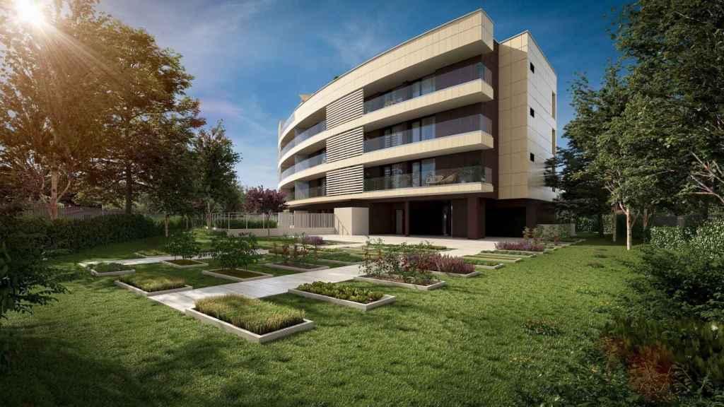 Promoción de viviendas Natura Homes I en Urduliz (Bizkaia) de Neinor Homes.
