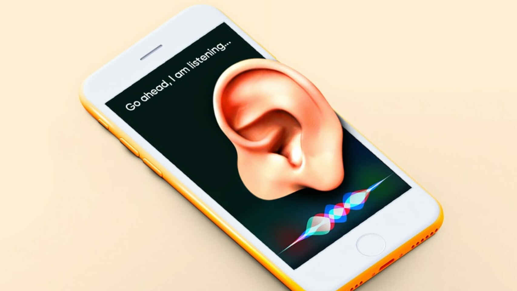 Siri en un iPhone.