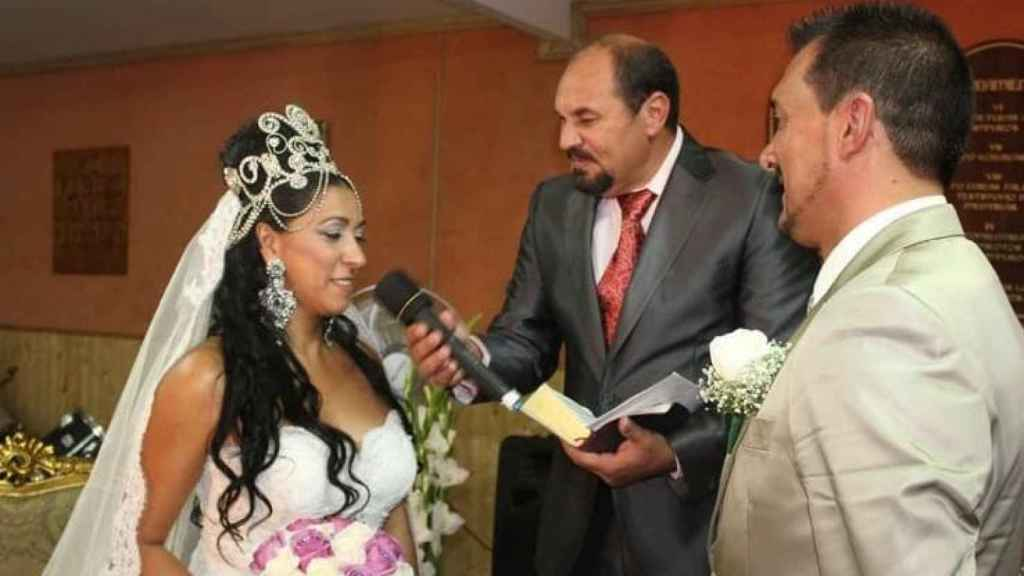 El cabo Antonio, el día de su boda.