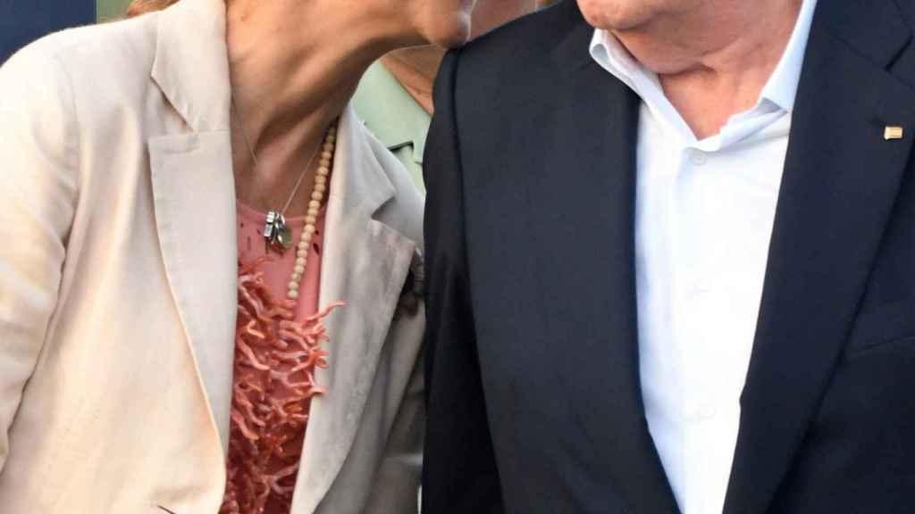 La infanta Elena y Juan Carlos I, en el torneo internacional de polo de Sotogrande.