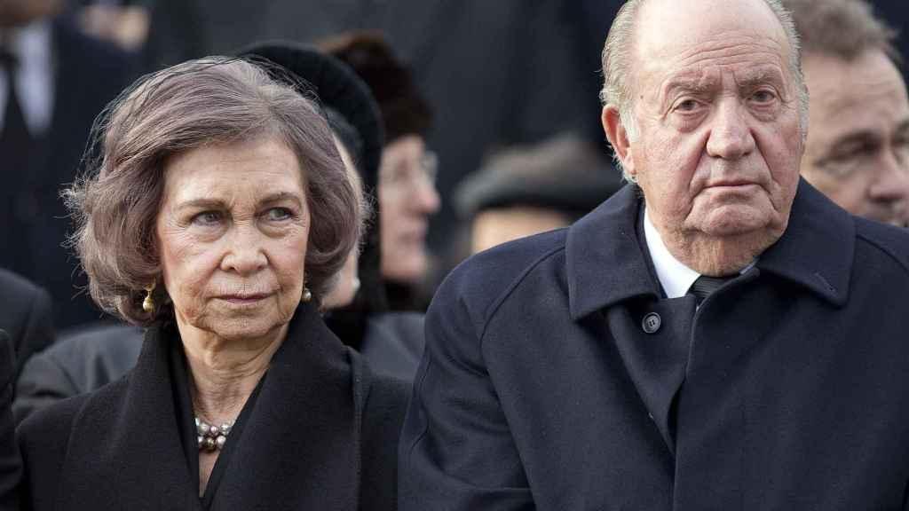 Los reyes eméritos Juan Carlos y Sofía.