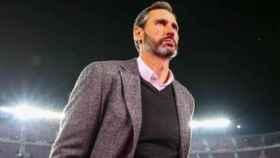 Vicente Moreno en un partido con el RCD Mallorca
