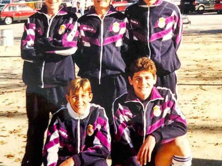Casillas, durante su etapa infantil en el Real Madrid