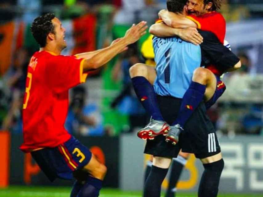 Casillas durante el Mundial de Corea y Japón