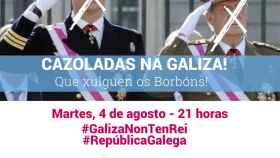 Imagen de la convocatoria del BNG para protestar contra la marcha de Juan Carlos I.