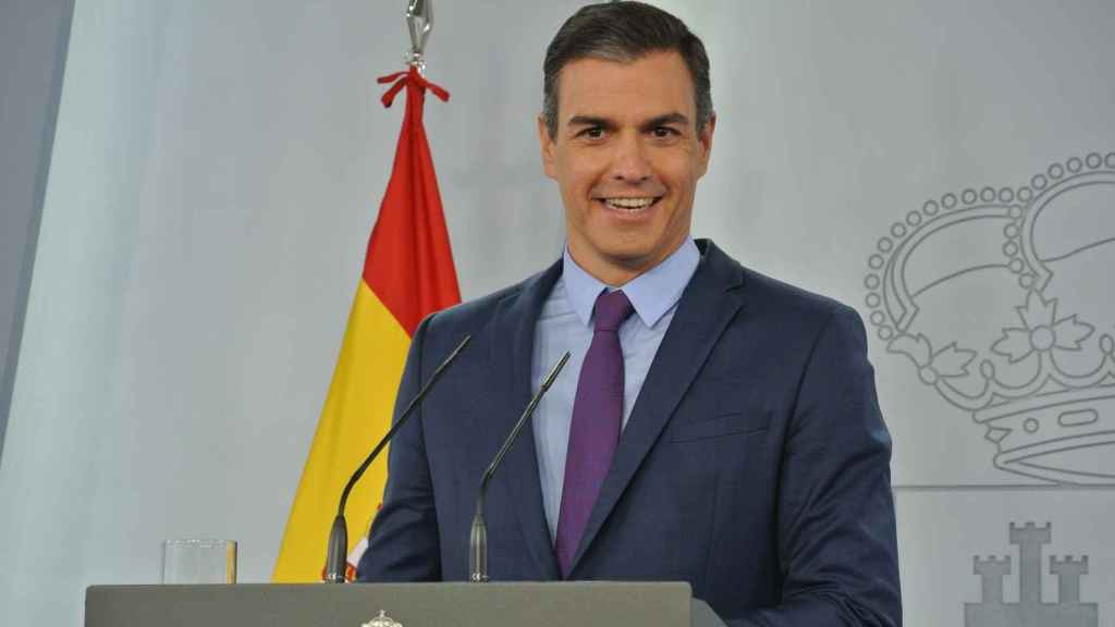 Pedro Sánchez, presidente del Gobierno, comparece ante la prensa para hacer balance del curso político..