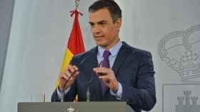 El presidente Pedro Sánchez, hace balance del curso en Moncloa.