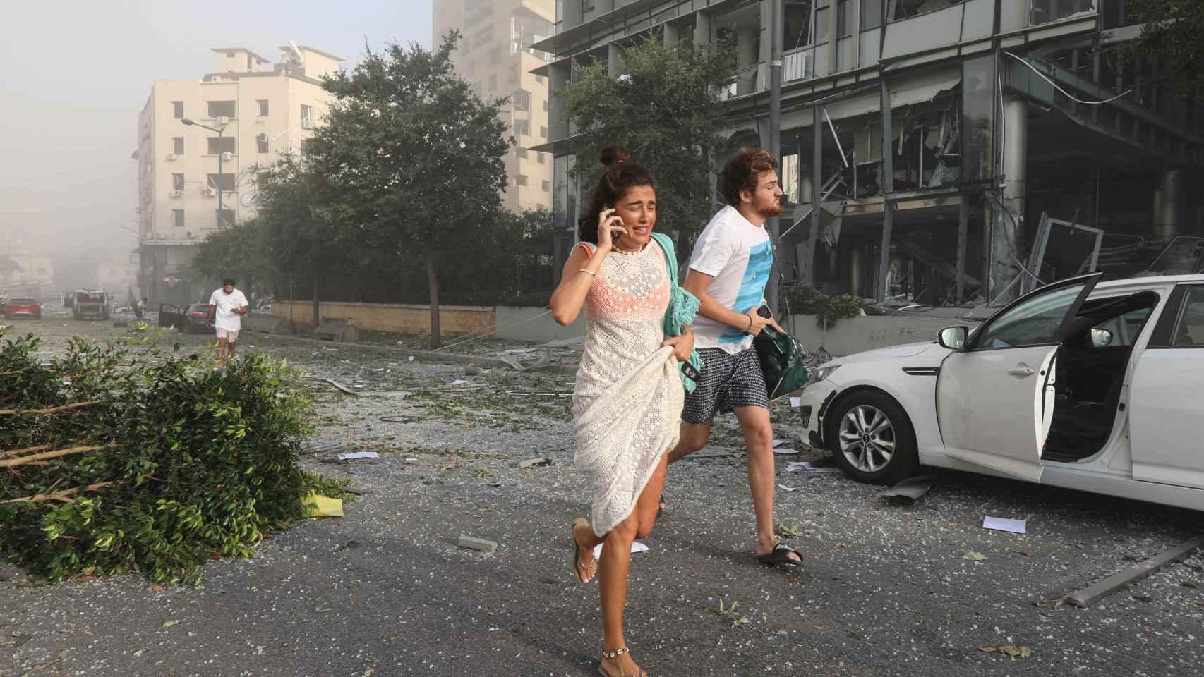 Imágenes de la fuerte explosión en Beirut