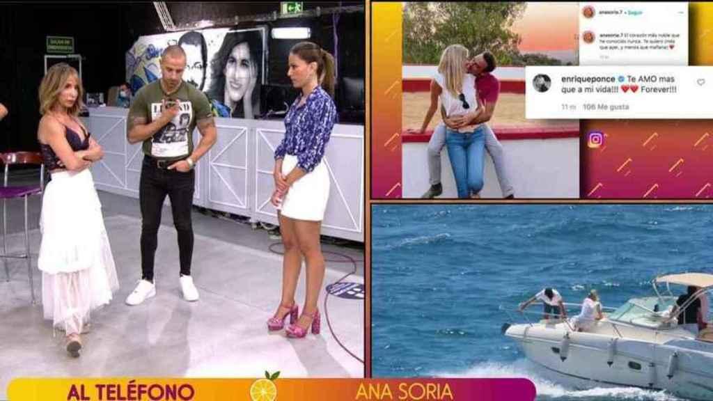 Rafa Mora lograba que Ana Soria llamase en directo al programa.