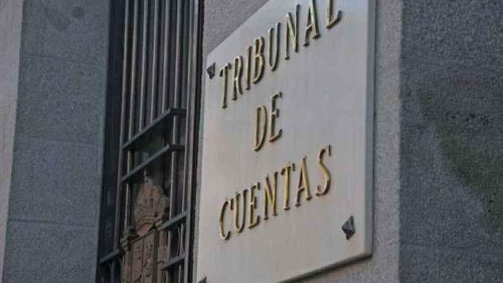 Placa del Tribunal de Cuentas.