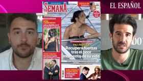 Jesús Carmona y Raúl Rodríguez grabando el 'Kiosco rosa, en vídeo'.