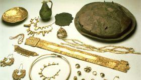 Varias piezas del Tesoro de Aliseda.