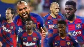 Ivan Rakitic, Arturo Vidal, Nelson Semedo, Martin Braithwaite, Junior Firpo y Samuel Umtiti