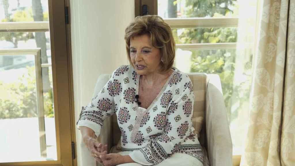Teresa Campos durante la grabación del programa.