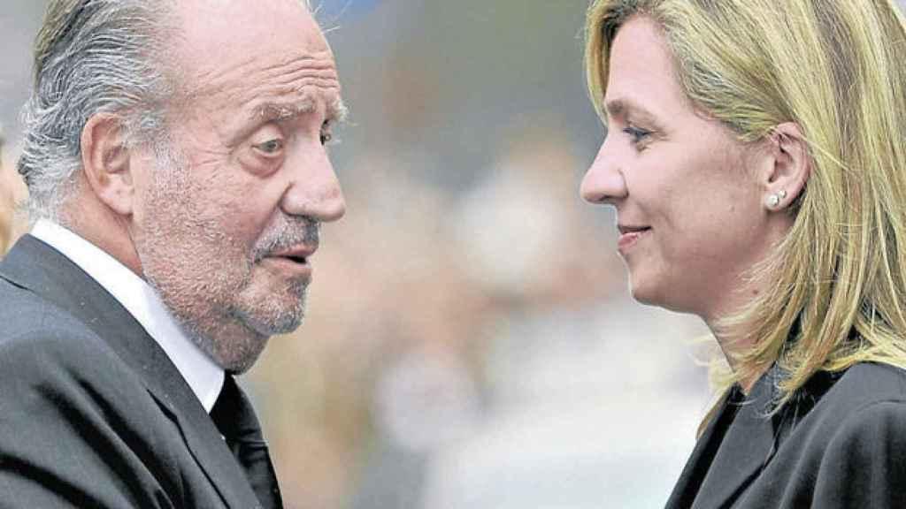 El rey Juan Carlos y la infanta Cristina en el año 2013.