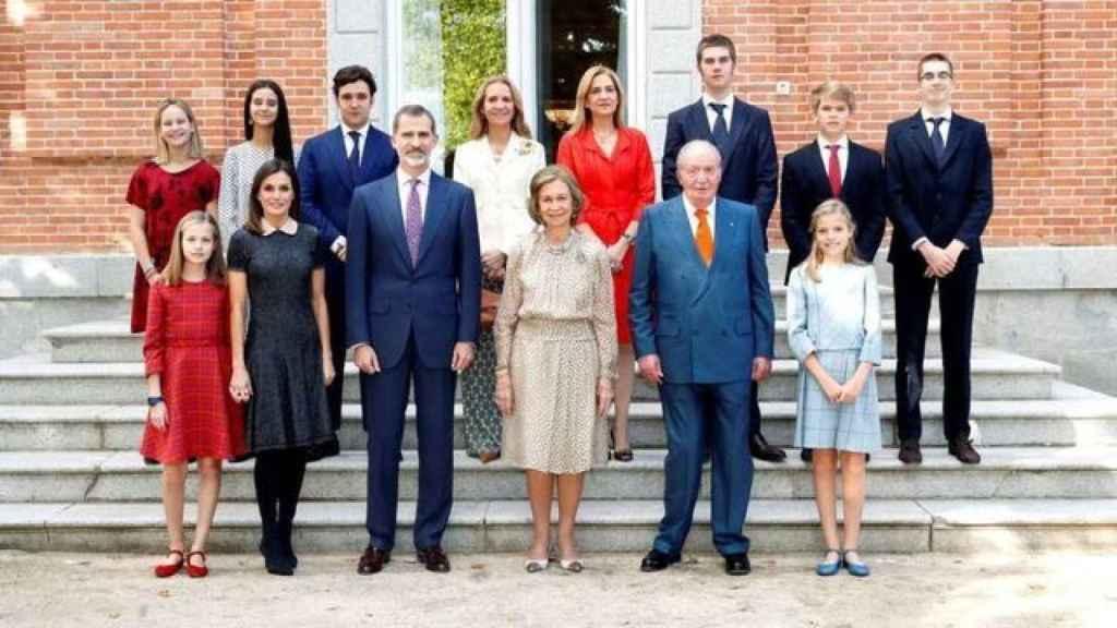 La Familia Real en el 80 cumpleaños de la reina Sofía.