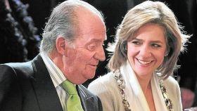 El rey Juan Carlos junto a su hija, la infanta Cristina.