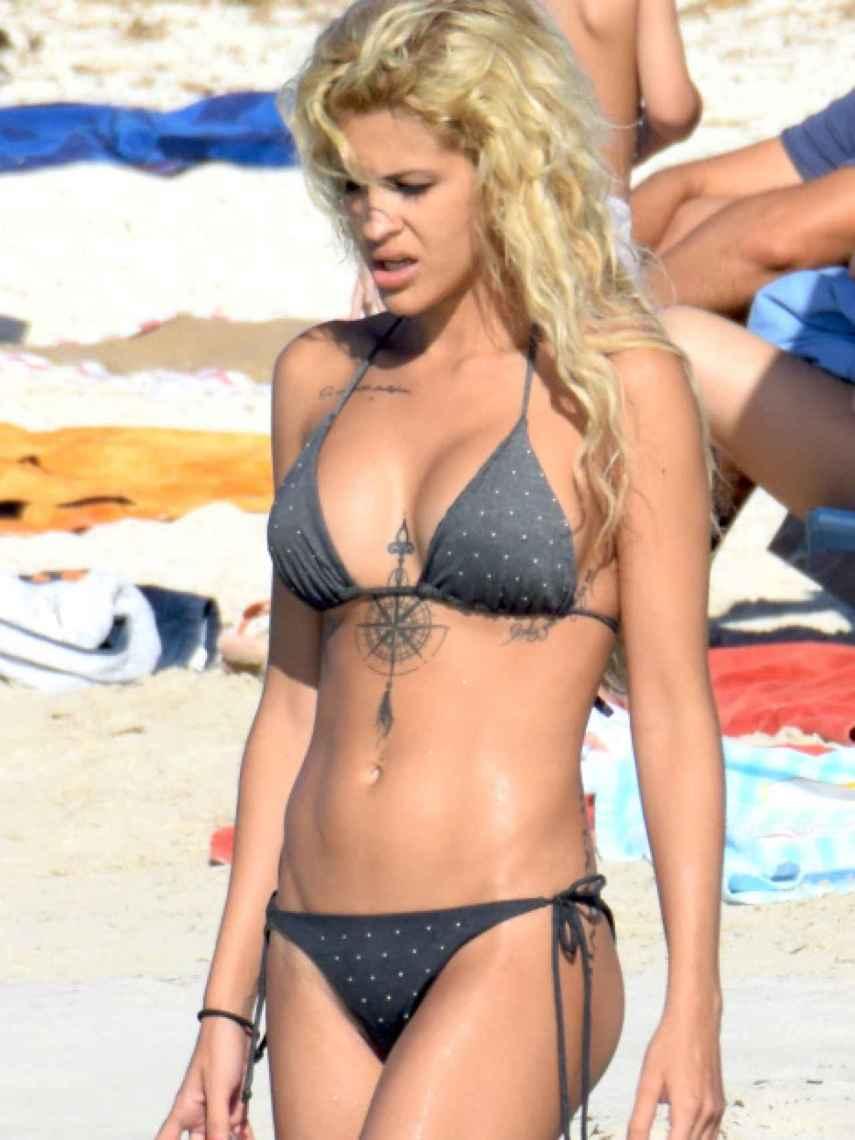 Ylenia Padilla, en unas vacaciones en Ibiza.