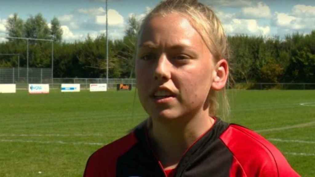 Ellen Fokkema, futbolista del VV Foarut
