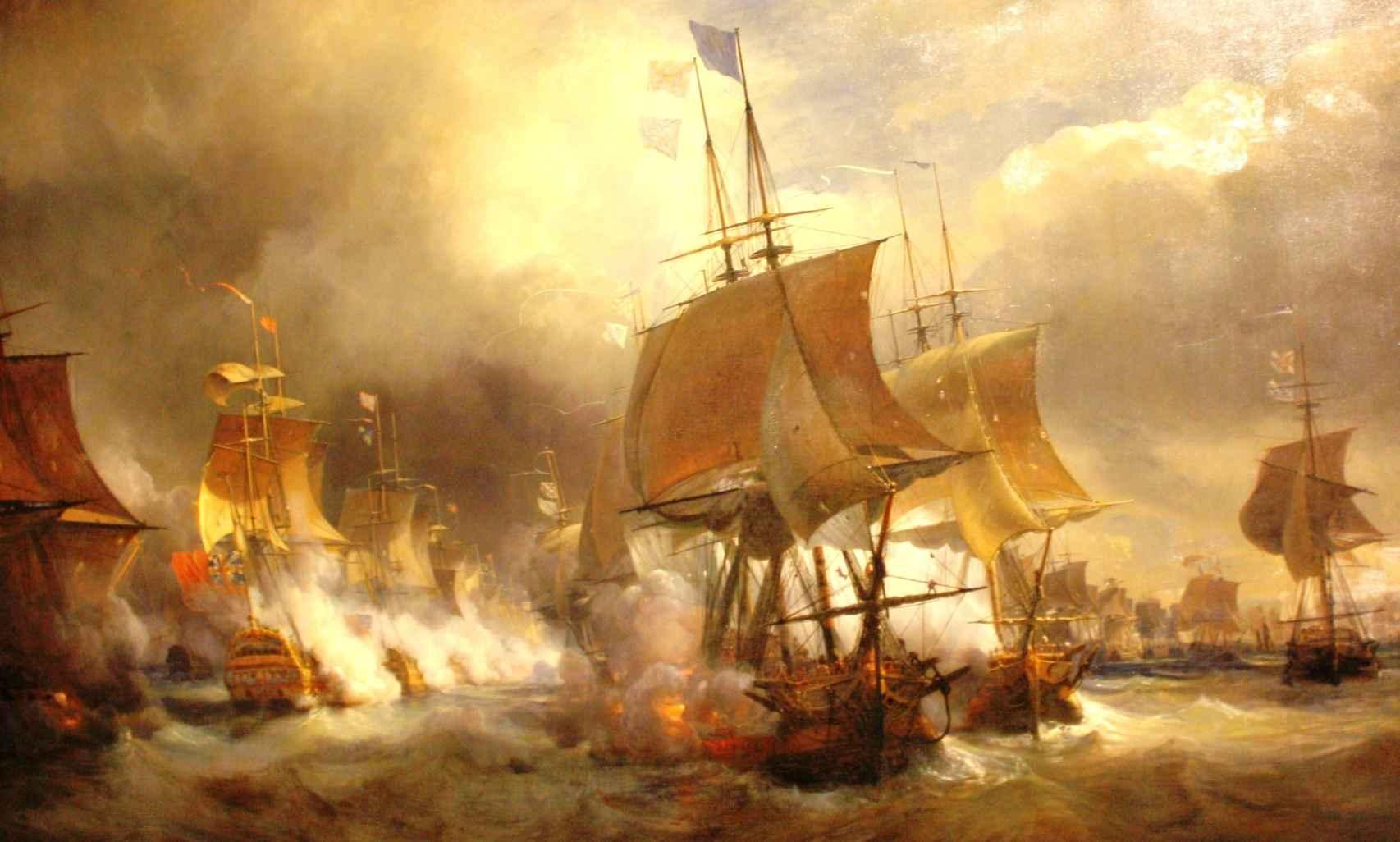 Batalla naval de Ushant (1778), por Théodore Gudin.
