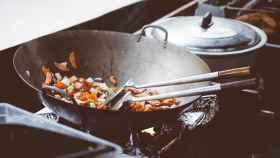 Unas verduras cocinadas al wok.