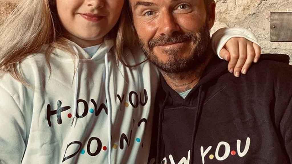 David Beckham y su hija Harper. Foto: Instagram (@davidbeckham)