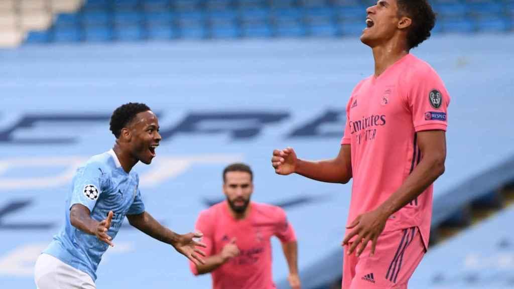 Varane se lamenta de su error que acabó en gol del City