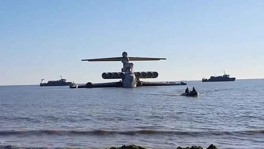 MD-160, el ekranoplano soviético del mar Caspio