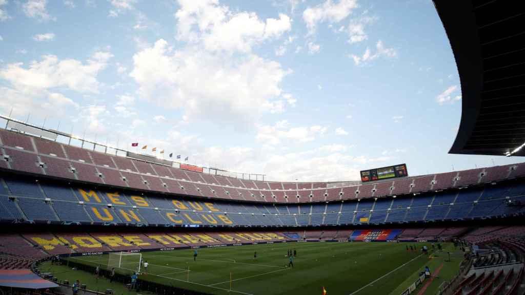 El Camp Nou antes del Barça - Nápoles