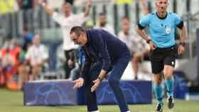Sarri se enfada tras un fallo de su equipo