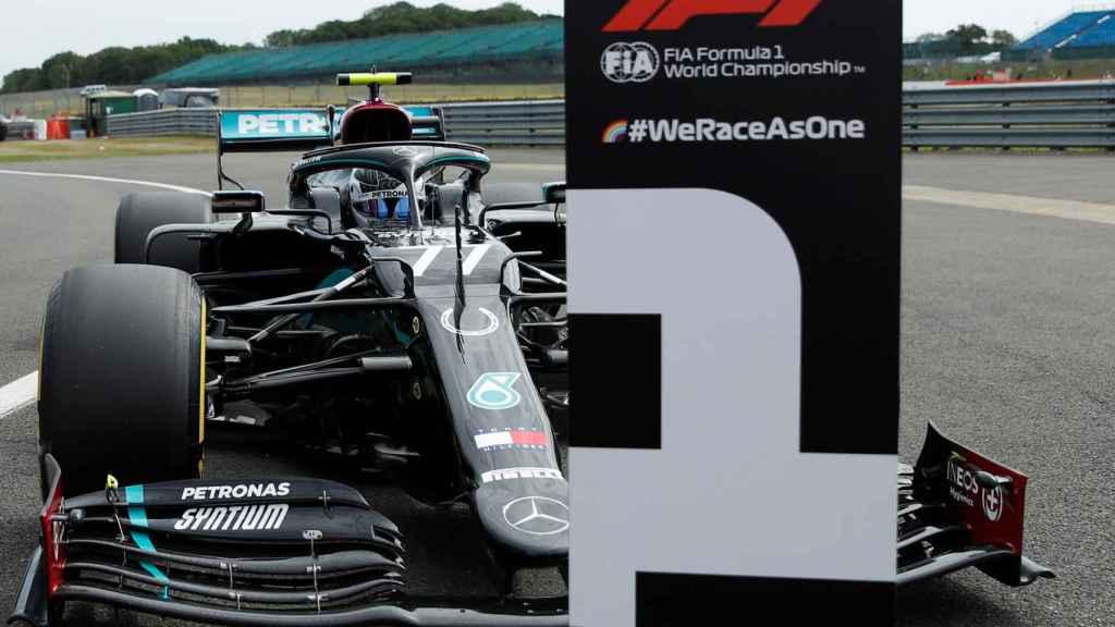 Valtteri Bottas, en el Gran Premio del 70 aniversario de la Fórmula 1 en Silverstone.