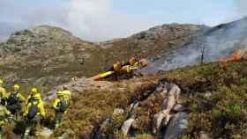 Fotografía del accidente subida por la Asociación de Trabajadores de las BRIF.