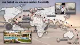 Juan Carlos I una semana en paradero desconocido